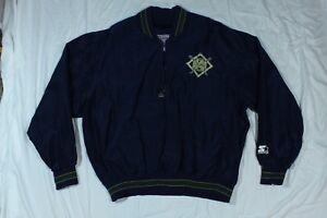 Vintage Milwaukee Brewers Starter Diamond Collection Pullover Jacket L MLB Baseb