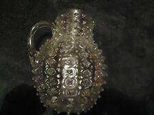 Rare Original Victorian Hob Nail Glass Jug / pitcher from America