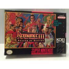 Romance Of The Three Kingdoms III 3 Dragon Of Destiny Nintendo Super NES SNES US
