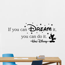 Disney Quote Wall Decal If You Dream Vinyl Sticker Nursery Poster Decor 177crt