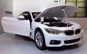 1:24 Scale White BMW M4 435i 4 Series F32 71303 M Sport New Ray Model Car Diecas