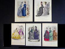 5 Engraving Plates - Le Moniteur Des Dames et Des Demoiselles(1856-73) INV 2010