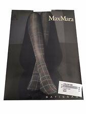 MAX MARA collant donna fantasia moro/azzurro/senape 84% poliammide