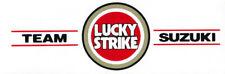 Suzuki Lucky Strike Branded White Sticker