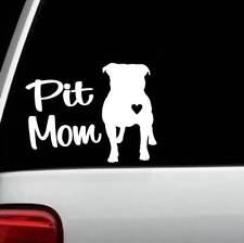 Pit Mom Pit Bull Pitbull Dog Decal Sticker Bg101 for Car Window Laptop Heart