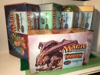 5 Magic The Gathering MTG Empty Display Boxes 7th, Odyssey, Invasion, Planeshift