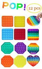 12 Pcs Push Pop Bubble It Silicone Sensory Fidget Toy