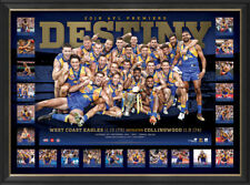 West Coast Eagles 2018 Premiers Destiny AFL Official Print Frame + COA Shuey