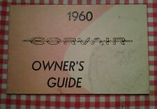 NOTICE /OWNER'S GUIDE CHEVROLET CORVAIR (1960) ETAT NEUF/NEW.