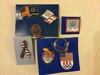 2006 USA Olympic Team  7 Vintage Pins  Turin 2006