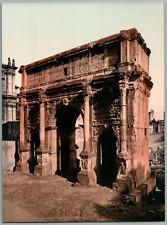 Roma. Arco di Settimio Severo.  PZ vintage photochromie,  photochromie, vintag