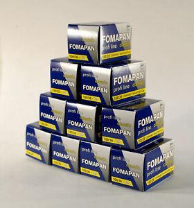 Paquete De 10 Fomapan Blanco Y Negro De 120 Mm 200asa película