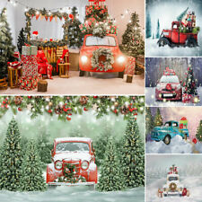 Photo Background Happy Christmas Car Scene Tree Studio Photography Backdrops