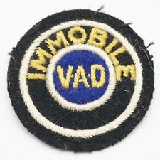 More details for ww2 red cross volunteer aid detachment vad immobile cloth sleeve badge patch