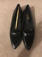 New Tods Beautiful Black Leather Loafers - Size 37.5 - UK 4.5