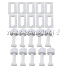 5 Pairs White Plastic Toilet Seat Hinge Bolts Nuts Replacement Accessory