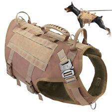 K9 Dog Tactical Adjustable Nylon Vest Molle Military Harness Hunting Training