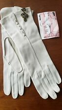 Vintage white gloves Crescendoe Wonder Fabric Unused Size 6.5 Nwt