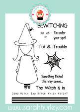 Sarah Hurley Doodle Doll Halloween - Witch Girl Stamp Set