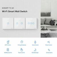 SONOFF T2 1/2/3 Gang Wifi Light Switch Smart Home Supplies UK Standard