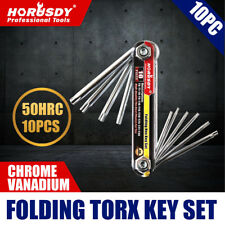 10 PC Folding Locking Torx Hex Key Allen Wrench Driver Set Tamper Resistant