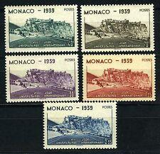 1939 MONACO N°195/199 TIMBRES POSTE STADE LOUIS II x