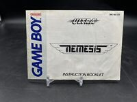 Nemesis Nintendo Game Boy Instruction Manual Booklet ONLY