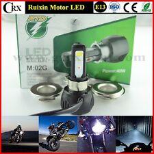Motorcycle 4400LM H4 H6 BA20D H/L 40W COB LED Headlight Bulb Motor Front Lights