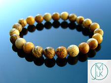 Picture Jasper Natural Gemstone Bracelet 7-8'' Elasticated Healing Stone Chakra