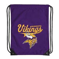 "Football Licensed Minnesota Vikings Backsack Team Spirit 17.5"" x 13"" Gym bag"