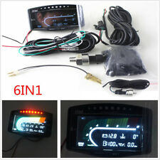 Universal 6 Function  in 1 12v/24v Truck Car LCD Digital Gauge With Turbo Boost