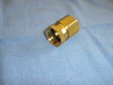 Brass Female Garden Hose Swivel Hex Adapter 3/4