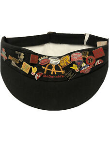 RARE 1940s Vintage McDonalds Crest Uniform MADE IN USA 20 PINS Black Crew Visor