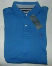 NWT Mens Tommy Hilfiger S/S Polo Shirt~Slim Fit~Blue~SZ MED