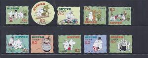 Japan 2015 Moomins Complete Used Set of 10 Sc# 3823 a-j 82Y