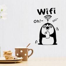 Adesivo WI-FI sticker connessione wifi vetrina negozio pub bar pinguino NERO
