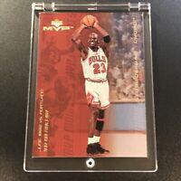 MICHAEL JORDAN 1999 UPPER DECK MVP #MJ10 MVP MOMENTS GOLD FOIL INSERT CARD BULLS