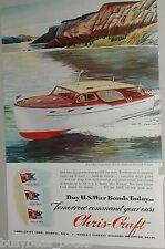 1945 CHRIS-CRAFT advertisement, 36ft Double Stateroom Cruiser, vintage motorboat