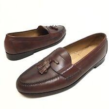 Cole Haan Men's Pinch Tassel Moc-Toe Loafers Brown Leather Sz 14D Dress EUC (10