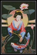 Koi Geisha - Cross Stitch Chart/Pattern/Design/XStitch