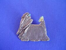 Yorkshire Terrier Butterfly Pewter Pin #31C Toy Dog Jewelry by Cindy A. Conter