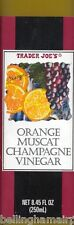 Orange Muscat Champagne Vinegar by Trader Joe's  Simply Wonderful FAST FREE SHIP