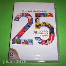 LO MEJOR DE WARNER BROS. COLECCIÓN 25 EPISODIOS DC CÓMICS DVD NUEVO Y PRECINTADO