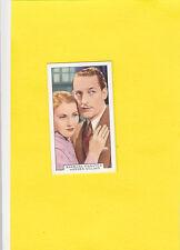 Barbara Stanwyck/Warren William 1935 Gallaher Film Partners Card #43 FREE SHIP