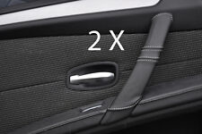WHITE STITCH FITS BMW 5 SERIES E60 E61 07-11 FACELIFT 2X REAR DOOR HANDLE COVERS