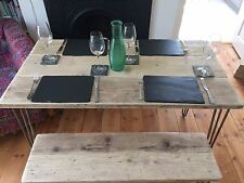 Table and bench set upcycled