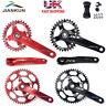 1Set 104BCD MTB Bike Crankset 170mm Crank Set Narrow Wide Chainring Chainset BB