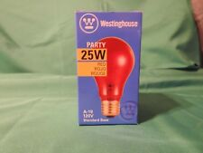 New Westinghouse Red Party Light Bulb 25 watts Translucent Crystal
