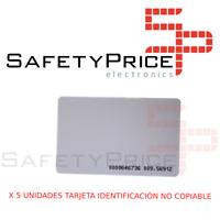 5X TARJETA TAG RFID DE ACCESO ID NO COPIABLE