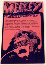 More details for t rex marc bolan quo faces king crimson + others flyer weeley festival 1971